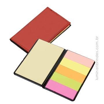 Bloco com Post It Color para Brinde
