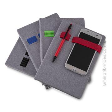 Caderno Com Elásticos Para Brinde