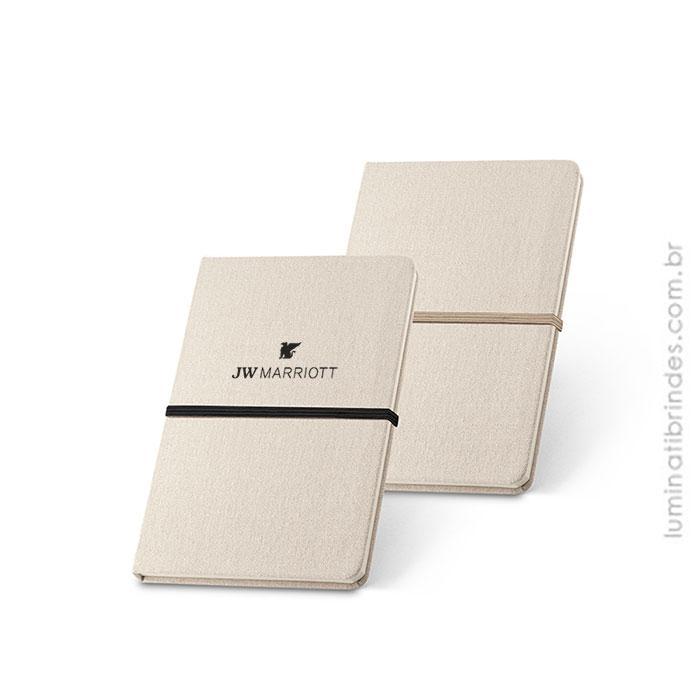 Caderno Para Anotações em Linho