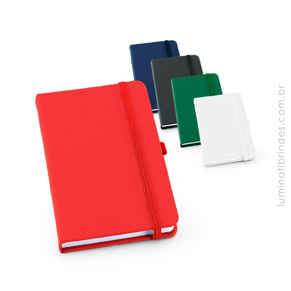 Caderno com capa em couro sintético