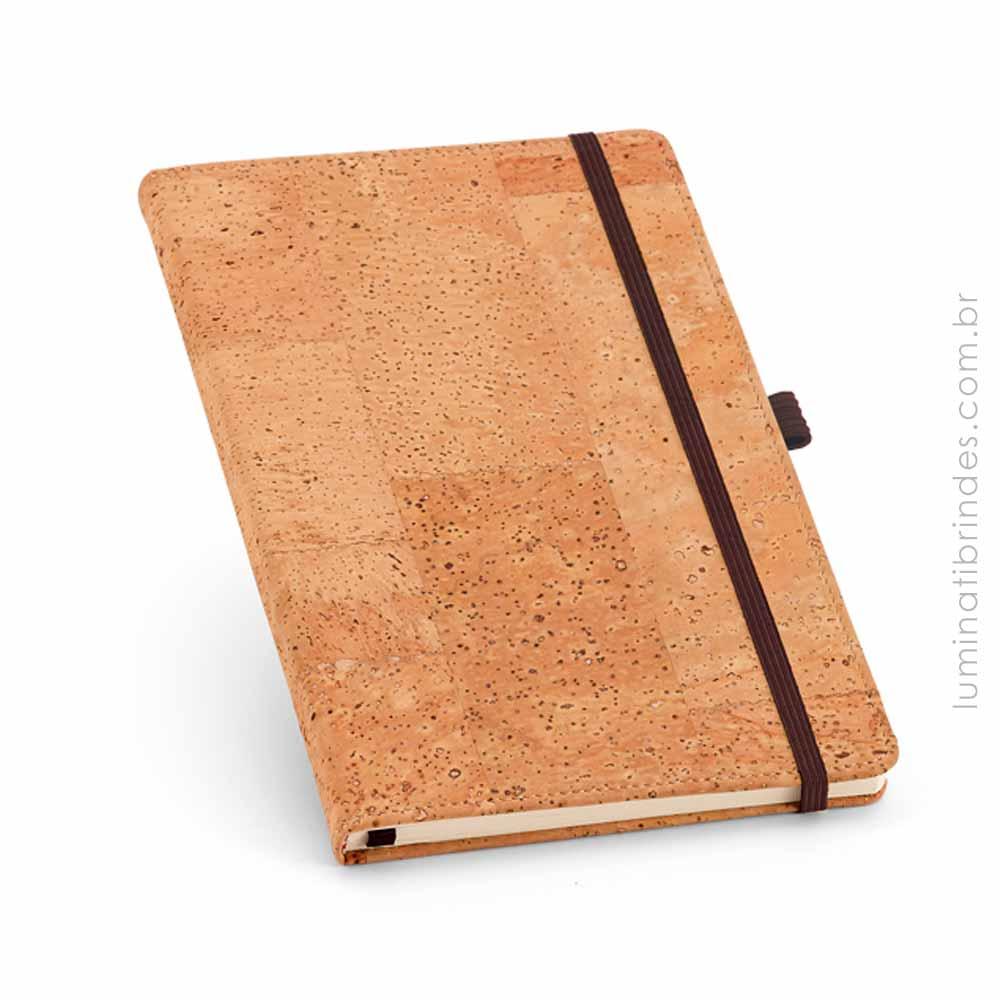 Caderno Com Capa Dura Em Cortiça Para Brinde