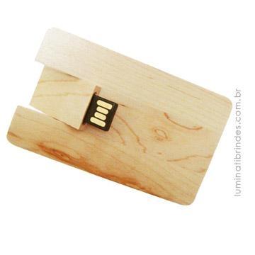 Pen Card Bamboo para Brinde