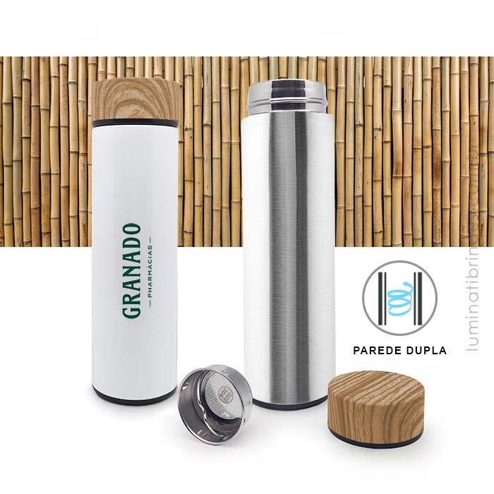 Garrafa Bambu Gift Aço