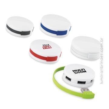 Hub USB Bola 4 Portas Para Brinde