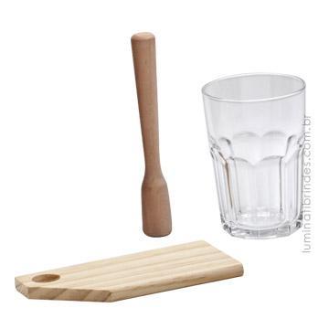Kit Caipirinha para Brindes com 3 peças