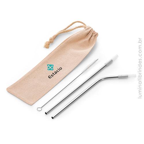 Estojo Green Straws Personalizado