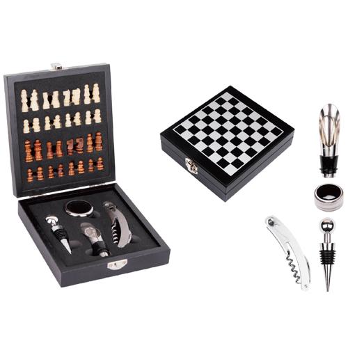 Kit Vinho Personalizado com jogo de Xadrez