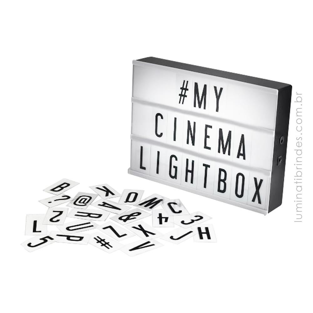 Mini Luminária Com Letras Para Brinde