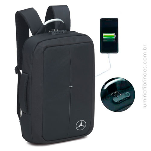 Mochila Corporativa USB Antifurto