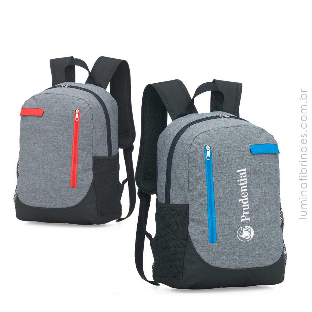 Mochila Personalizada Grey com Porta Laptop
