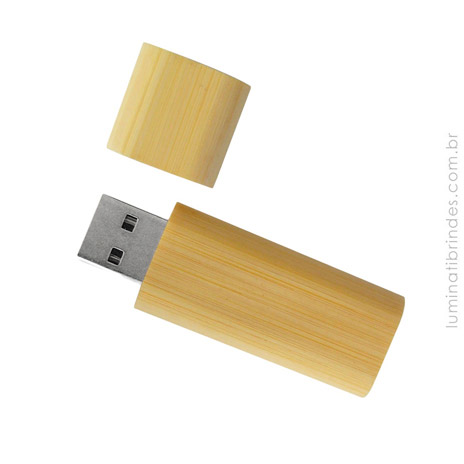 Pen Drive Eco Bambu Personalizado 8GB