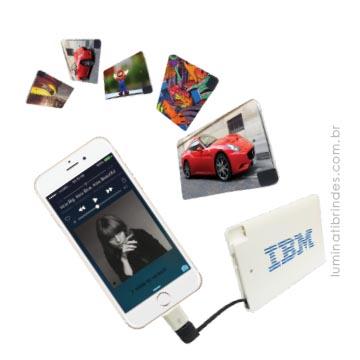Carregador de Celular Card para iPhone