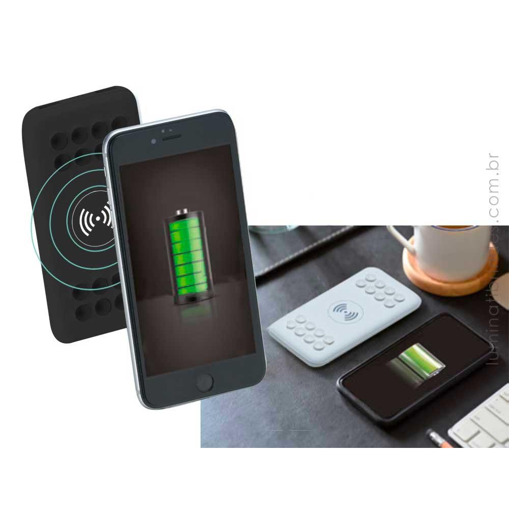 Powerbank por indução personalizado com 4000mAh