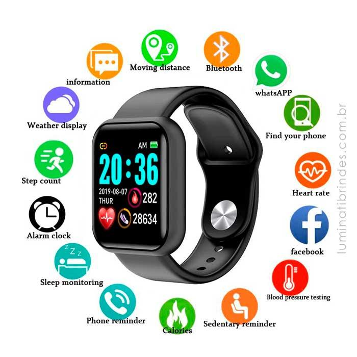 Smartwatch Black Square Personalizado