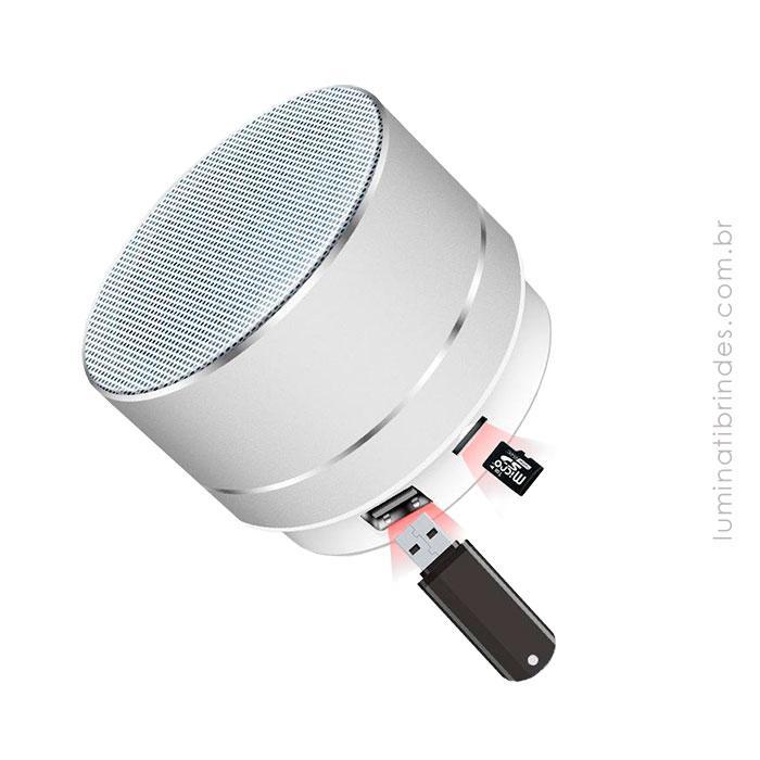Speaker Silver Metal Stereo